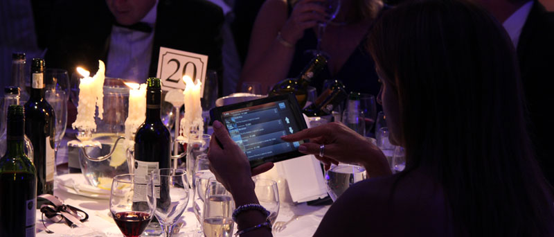 Silent auction system at the NSPCC Childline Ball